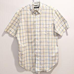 Nautica plaid button down shirt medium